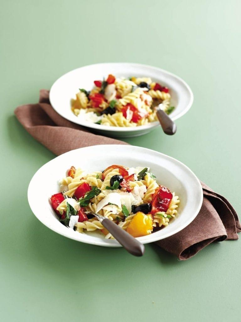 Roast tomato and pepper pasta