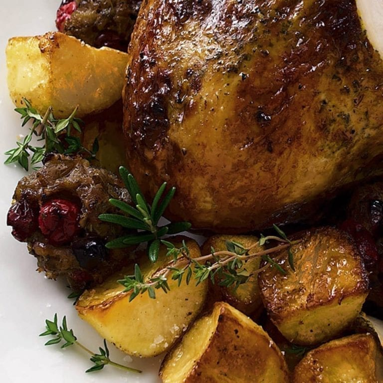 Sausage, chestnut and cranberry stuffing