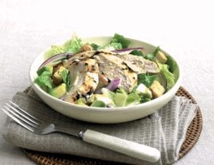Garlic chicken caesar salad
