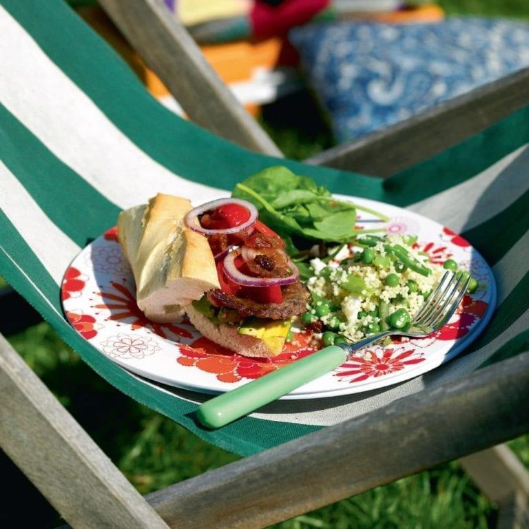 Barbecue pepper steak sandwiches