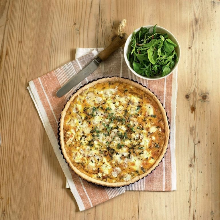 Goat's cheese and onion tart
