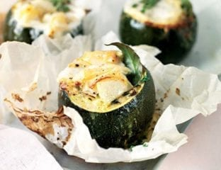 Tomme de Chevre and thyme-roasted gem squash