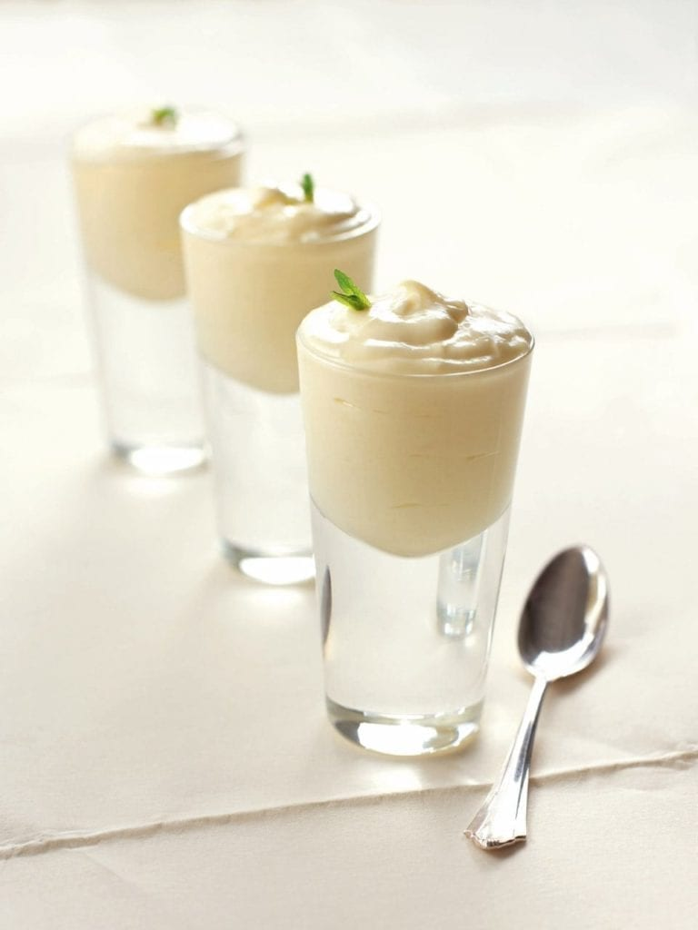White chocolate mint mousse