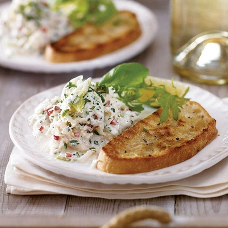 Crab salad with ciabatta toasts