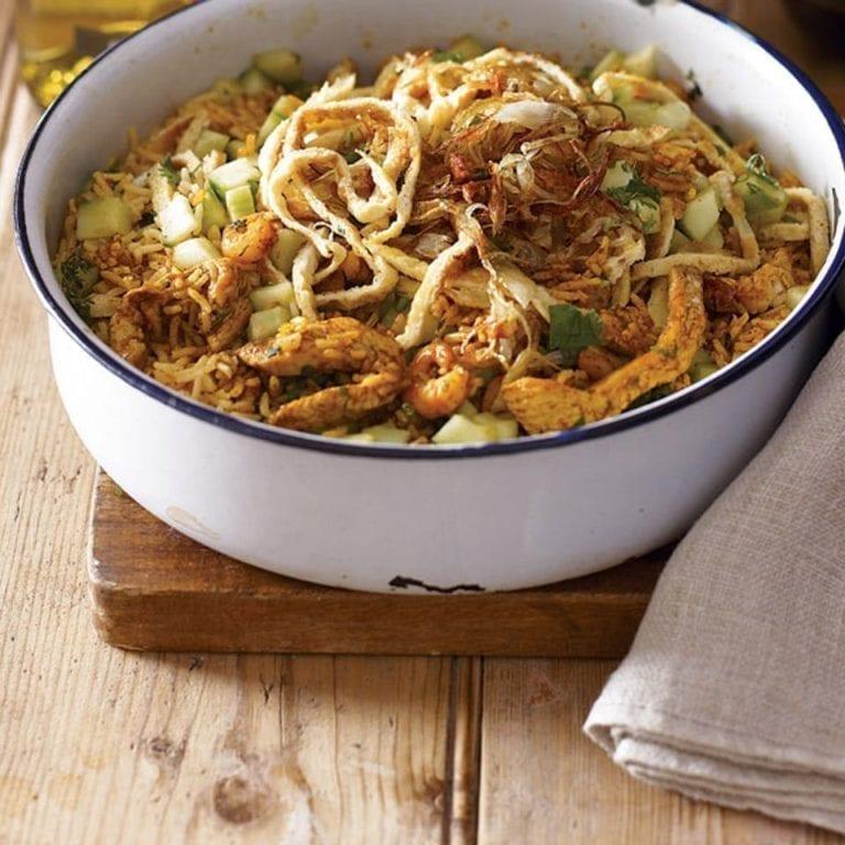 Spicy chicken nasi goreng