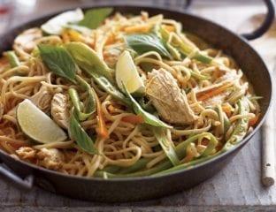 Thai chicken coconut noodles