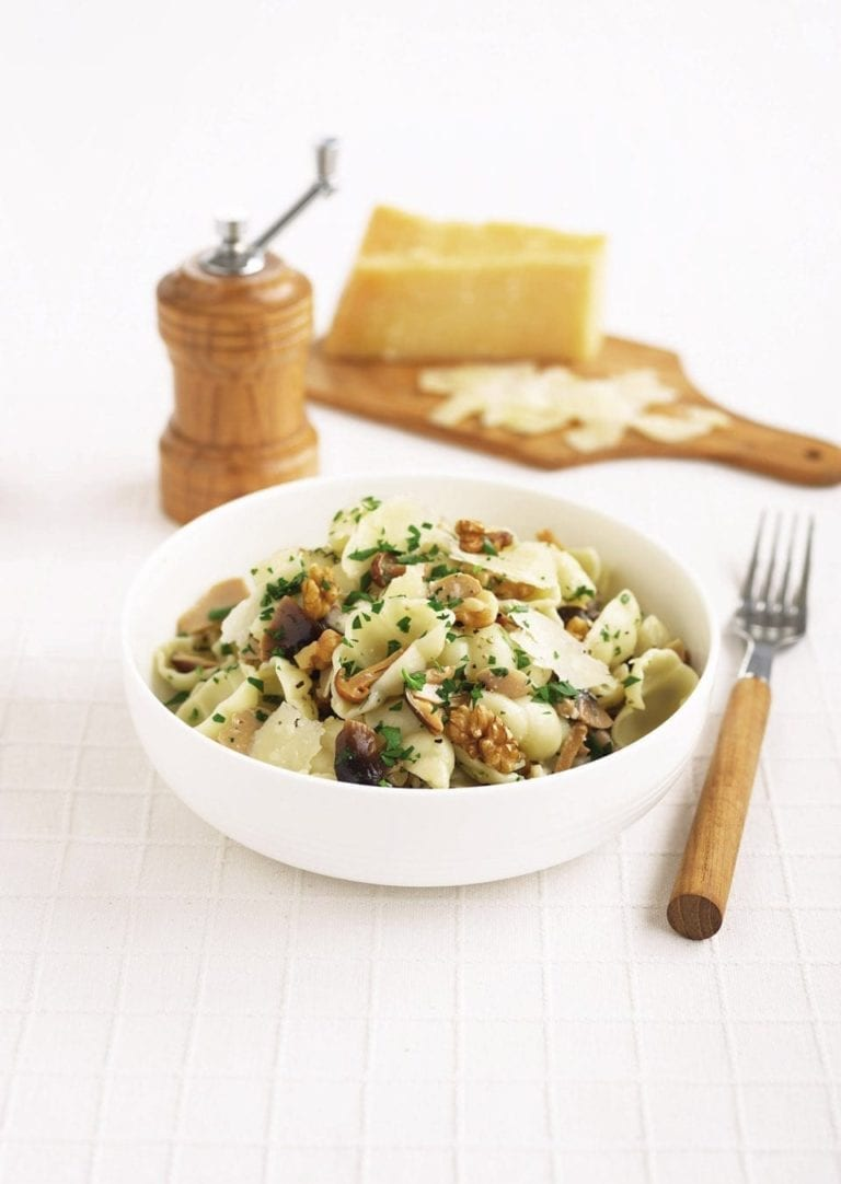 Wild mushroom and walnut pasta