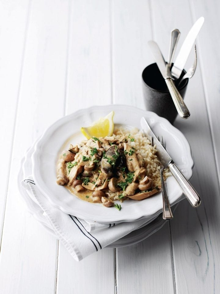 Chicken and mushroom fricassée
