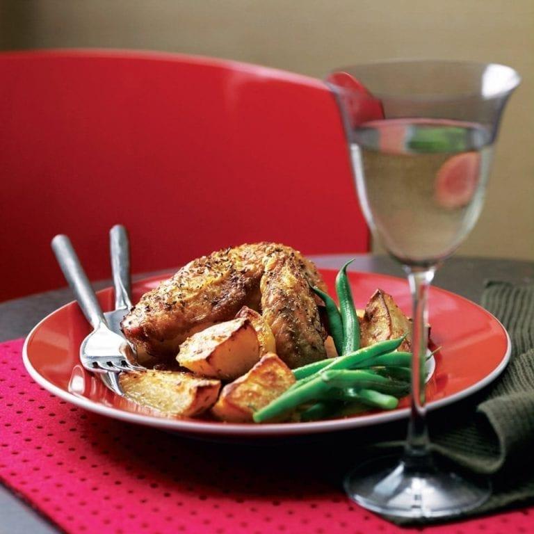 Easy chicken and potato roast