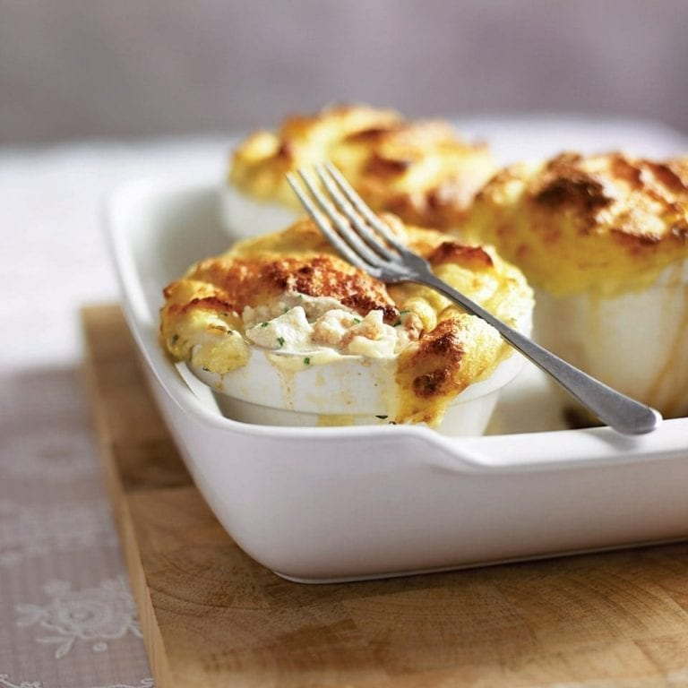 Smoked haddock, prawn and fennel fish pies