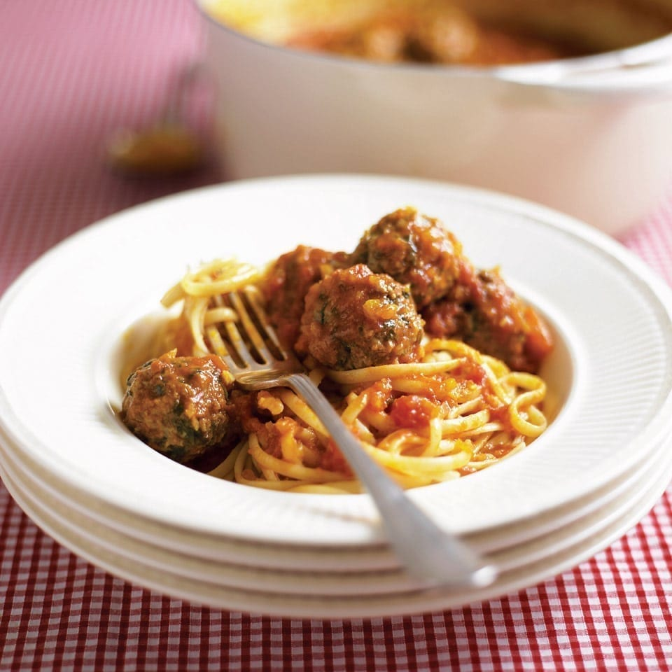 Spinach and Parmesan meatballs | delicious. magazine