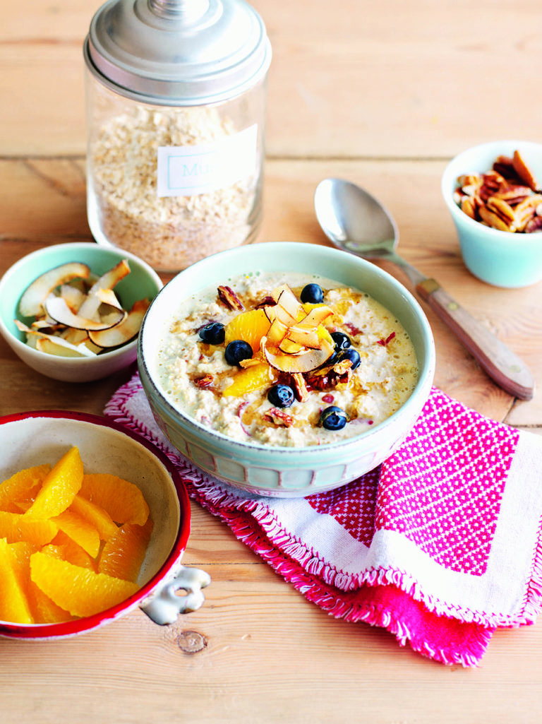 Apple and orange muesli