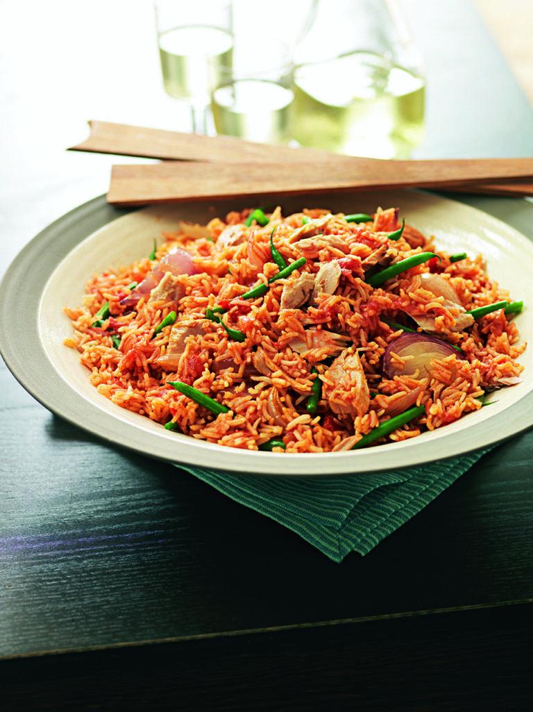 Tomato and tuna pilaf