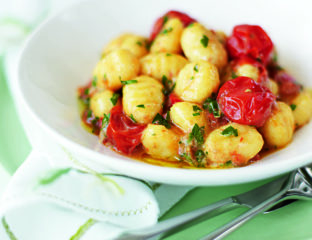 Gnocchi with sage and roasted tomato sauce