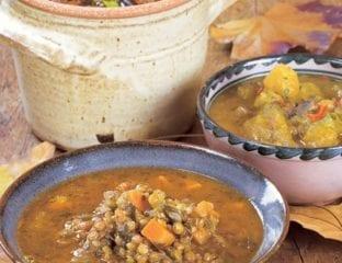 Chilli pumpkin and wild mushroom soup