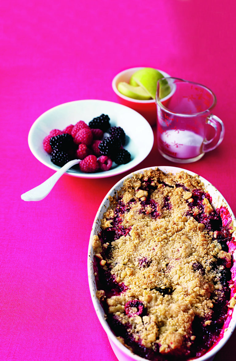 Classic crumble mix and four filling ideas