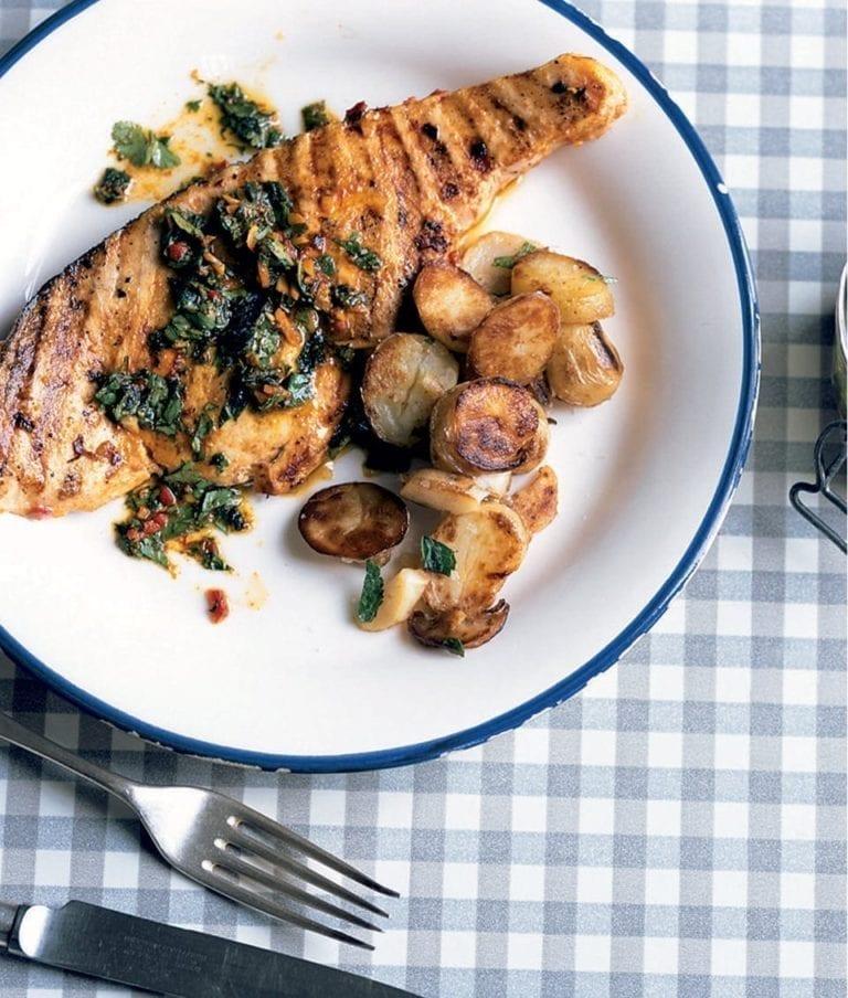 Swordfish steaks with chermoula