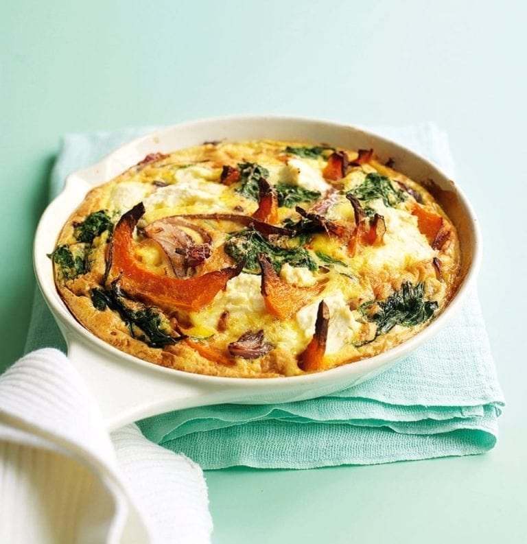 Pumpkin, spinach, ricotta and sage tortilla