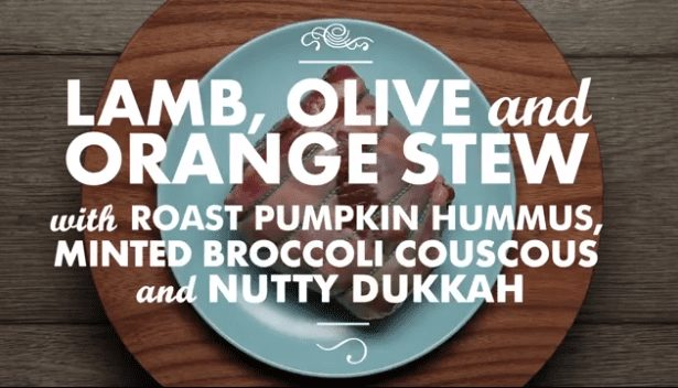 New Zealand lamb, olive and orange stew