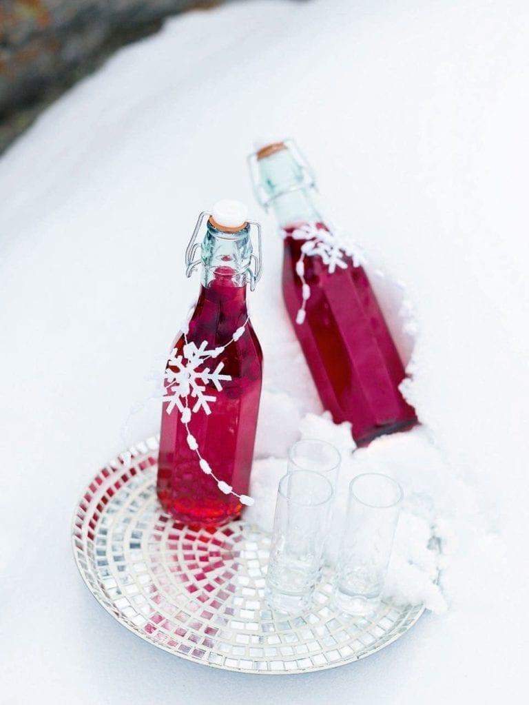 Cranberry and orange vodka