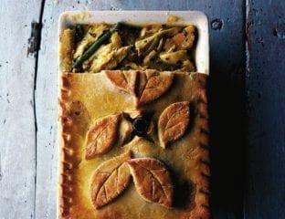 Curried chicken and parsnip pie