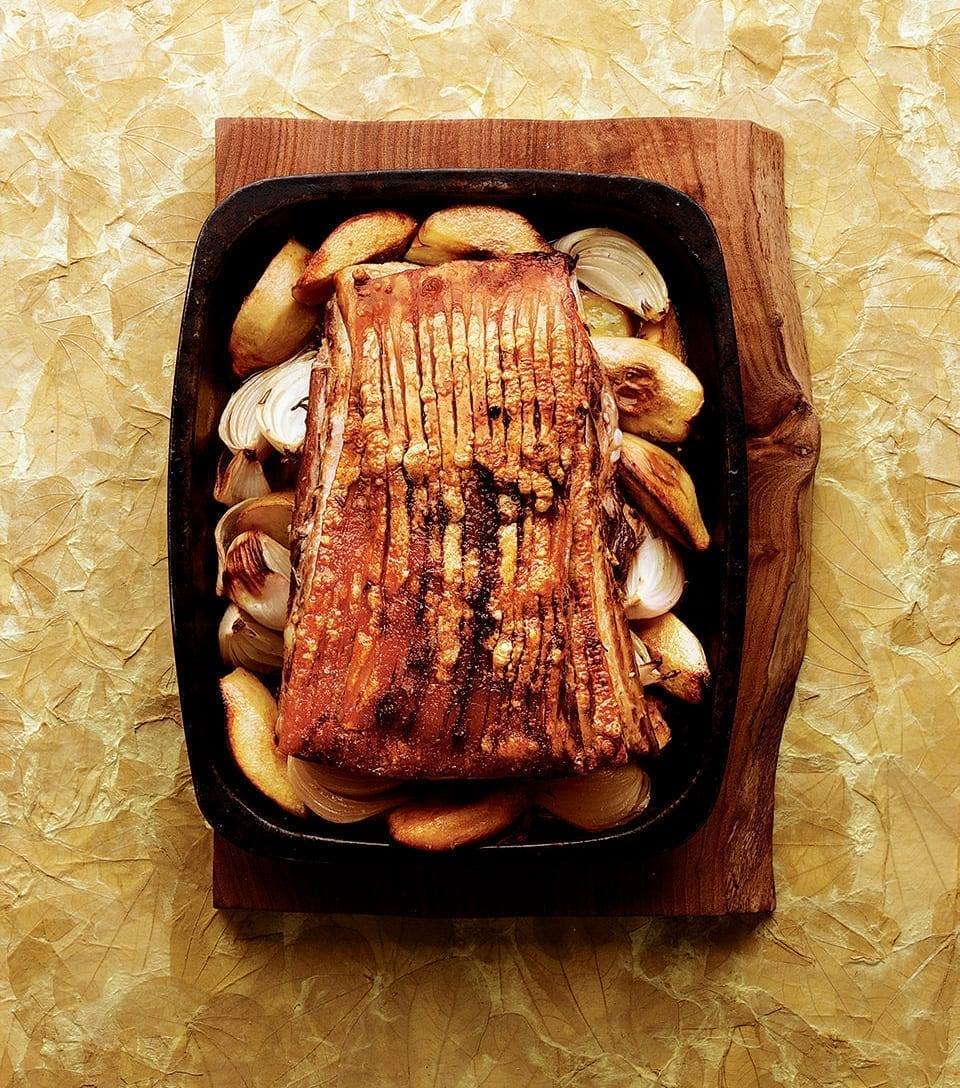 Slow Roast Pork Belly With Quince Delicious Magazine