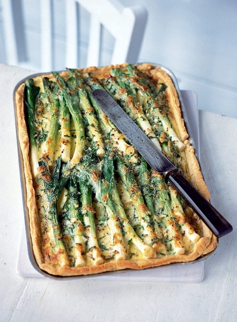 Creamy potato, leek and Gruyère tart