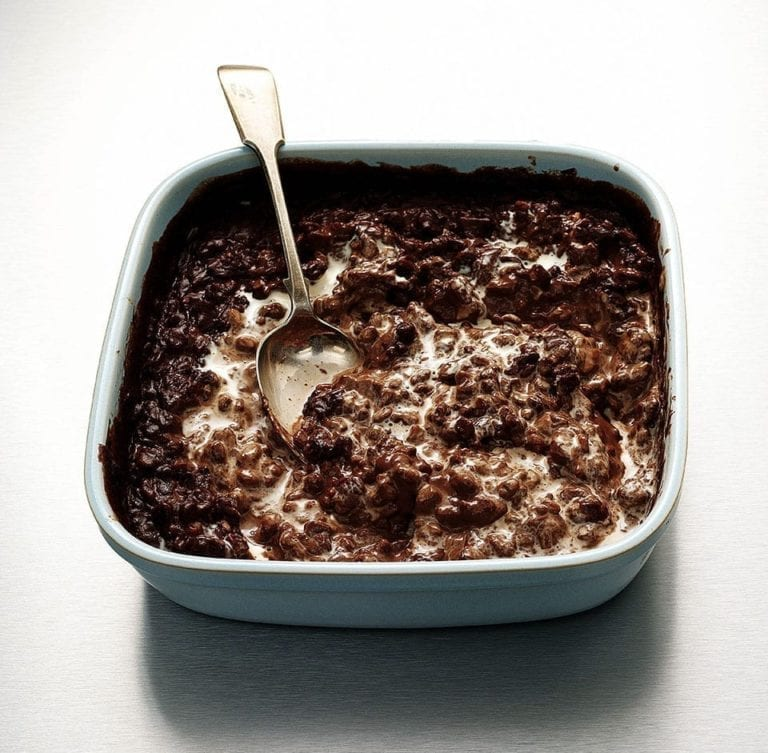 Chocolate orange rice pudding