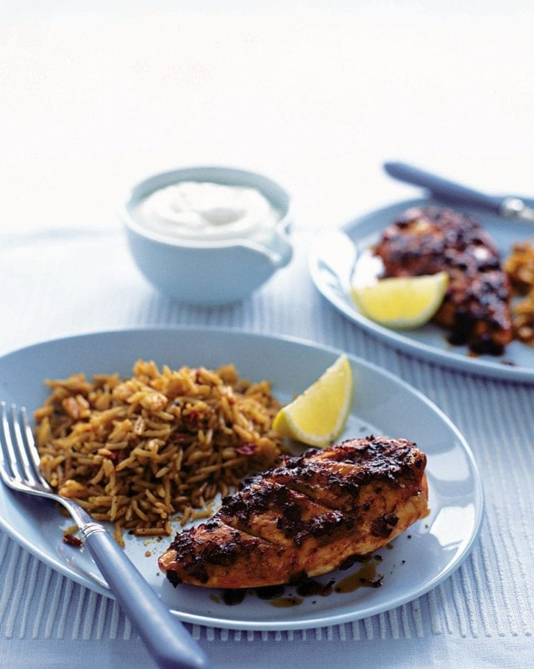 Paprika chicken with rice