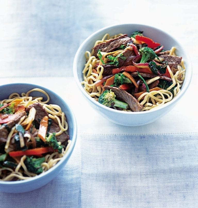 Steak and five-spice stir-fry