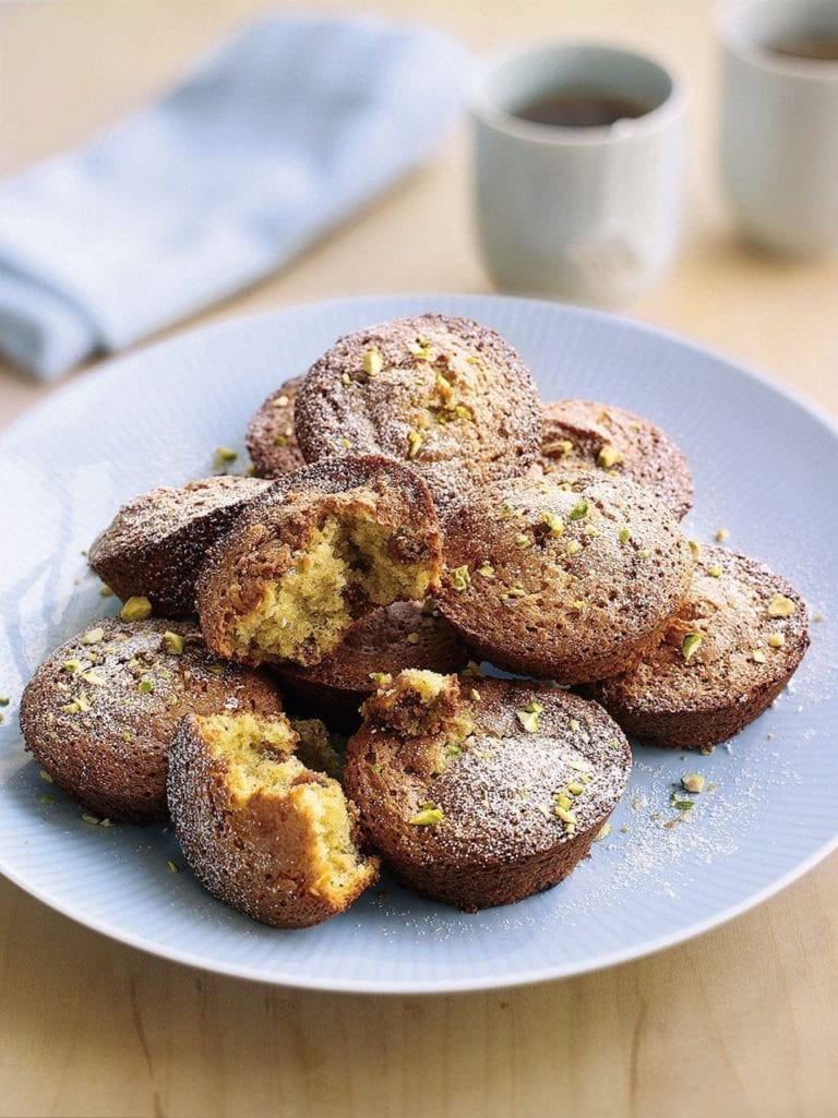 Fig and pistachio friands