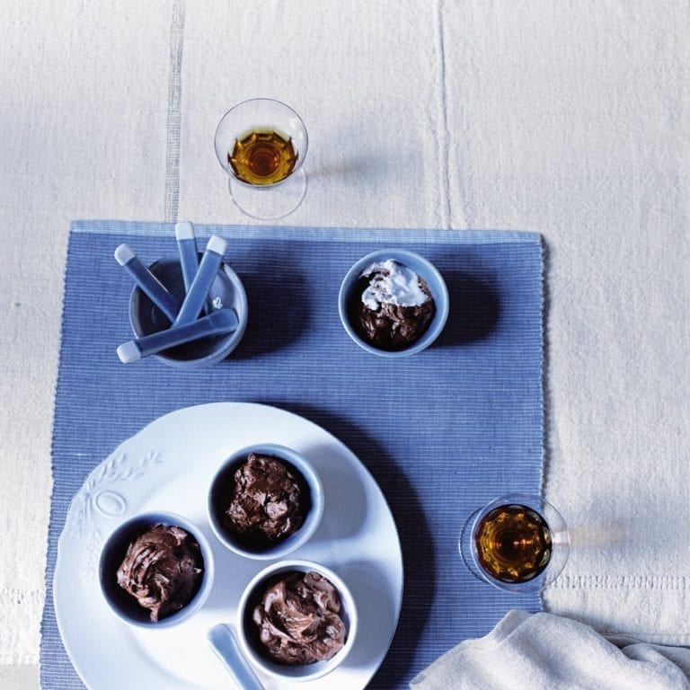 Chocolate and sherry pots