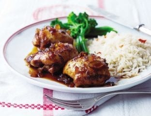 Sticky lime and ginger chicken