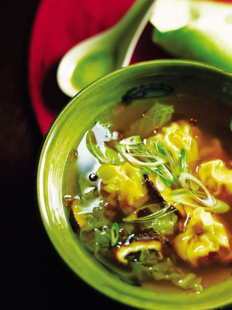 Pork and prawn wonton soup