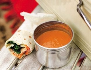 Creamy butternut squash and tomato soup