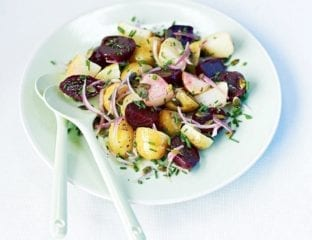 Beetroot, new potato and chive salad