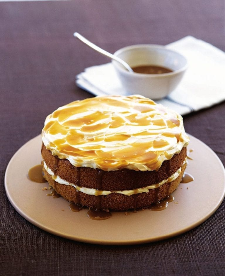 Butterscotch sponge cake with cream cheese frosting