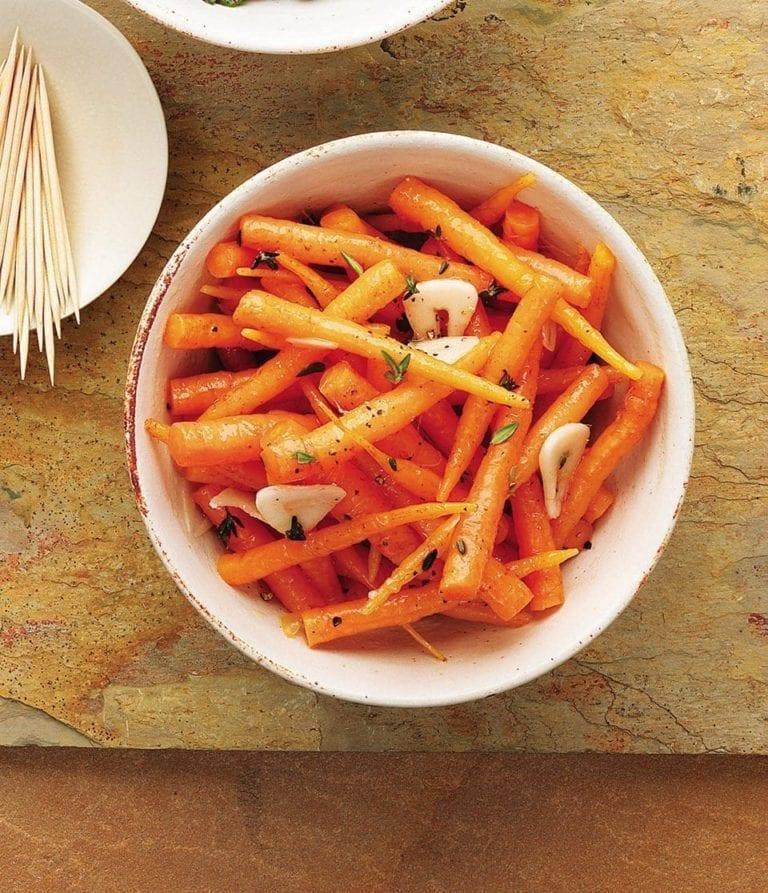 Marinated baby carrots