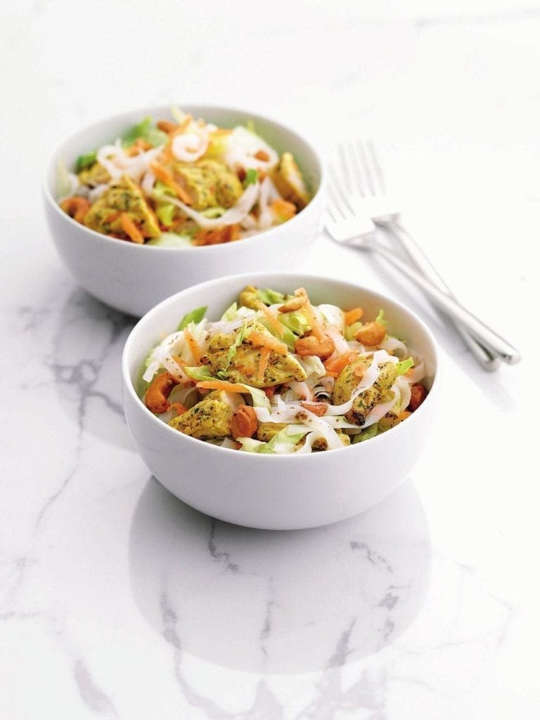 Chicken, cashew and noodle salad