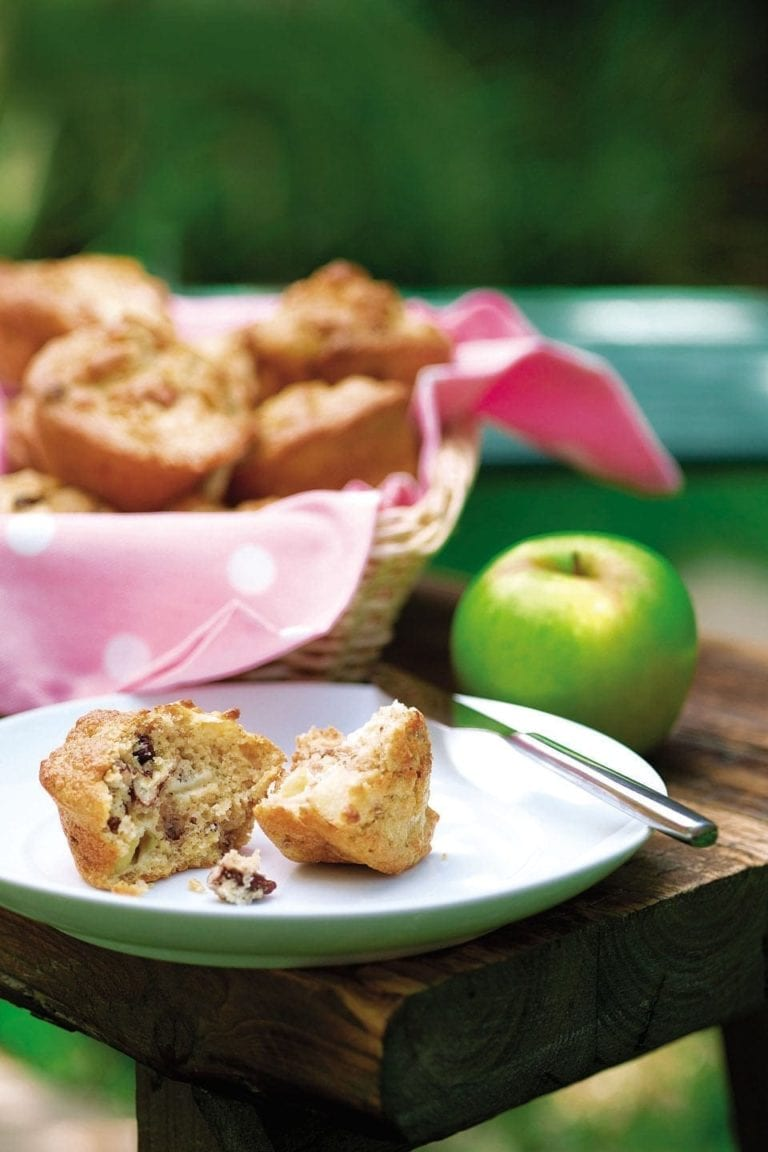 Apple, pecan and raisin muffins