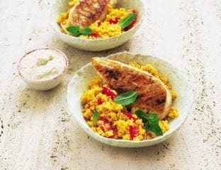 Griddled chicken with spiced tomato couscous
