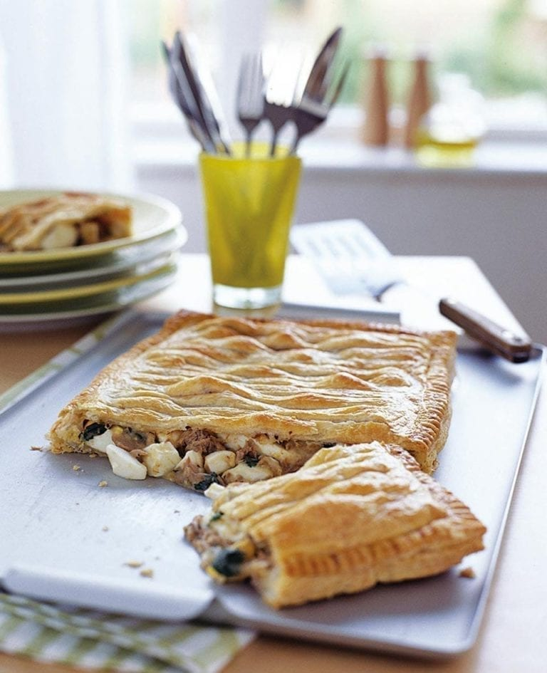 Tuna and egg puff pie