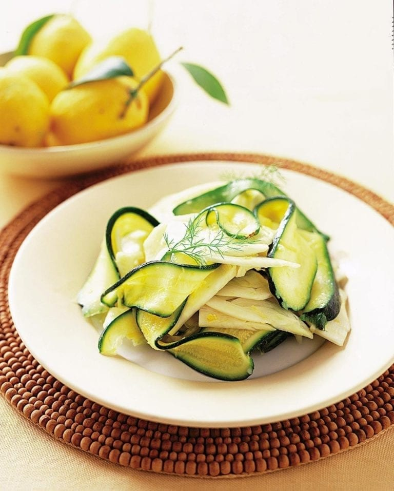 Courgette, fennel and potato salad