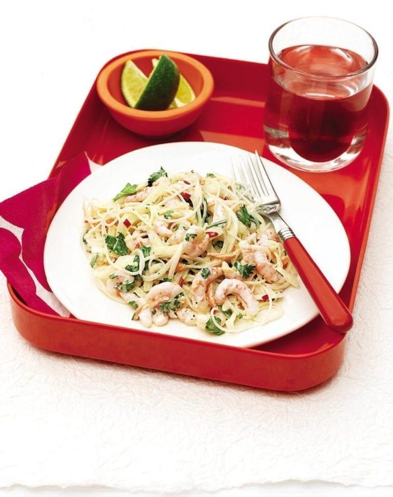 Thai-style prawn noodles
