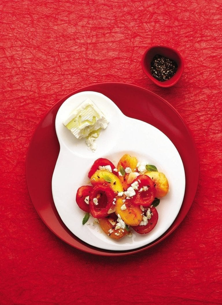 Tomato, peach and cumin salad