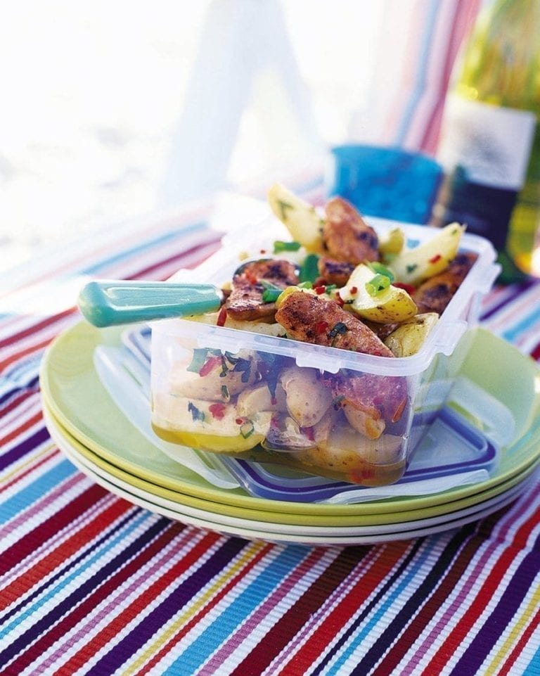 Moroccan chicken and potato salad