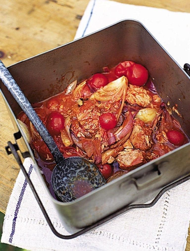 Tuna and tomato fry-up