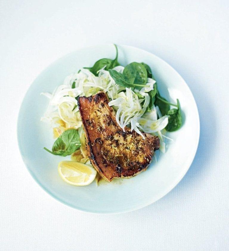 Pork chops with fennel