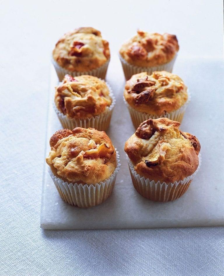 Peach and amaretti muffins