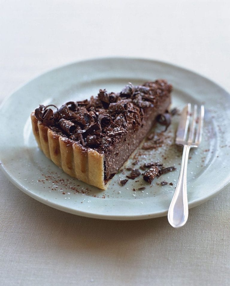 Chocolate and almond tart